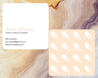 Customizable Popsicle Square Business Card with Round Corners | Moo.com Compatible