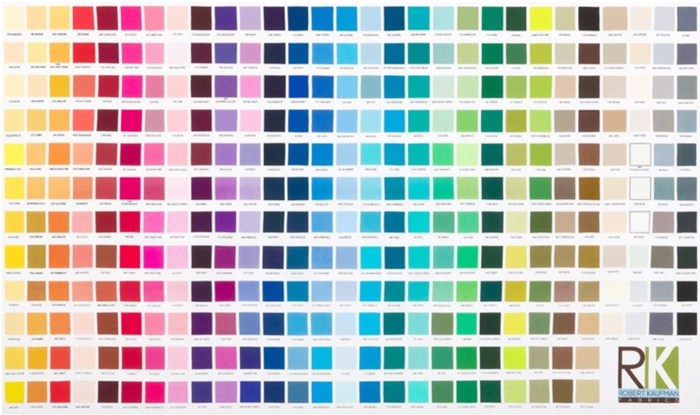 Robert kaufman kona color chart digitally printed color chart fabric sold by sunvalleyfabric nvjuhfo Images