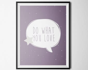 Pastel kids poster - Do what you love