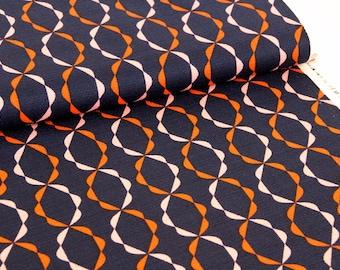 Holding Pattern Twist Of Fate Orange - Cloud9 Organic Cotton Fabric UK Seller