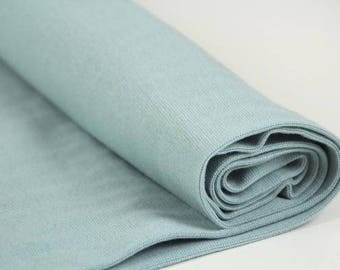 Cloud Blue - CPauli  Organic Cotton ribbing Cuffing GOTS UK Seller