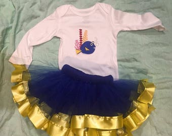 Custom made birthday tutu outfit
