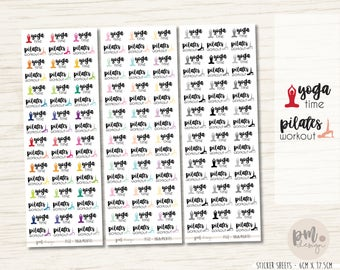 Yoga/Pilates Stickers - Planner Stickers - FS12