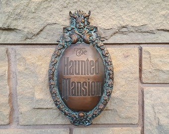 Disney Prop Haunted Mansion Attraction Plaque