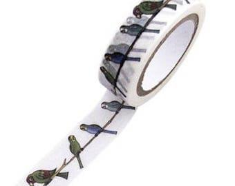 Masking tape parrots - Japanese washi paper tape