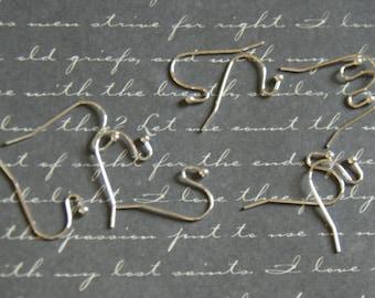 10 15x22mm silver open pierced ear hooks