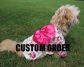 Custom made kimono for dogs