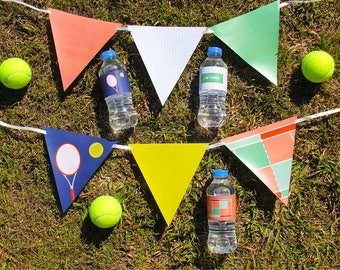 Tennis Party Decorations, Tennis Banner, Tennis Invitations, DIY Party Printable | INSTANT DOWNLOAD
