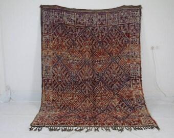 BeniMguild rug Hand Woven Multi-Coloured Area Rug Atlas-Moroccan rugs-tapis beniouarain