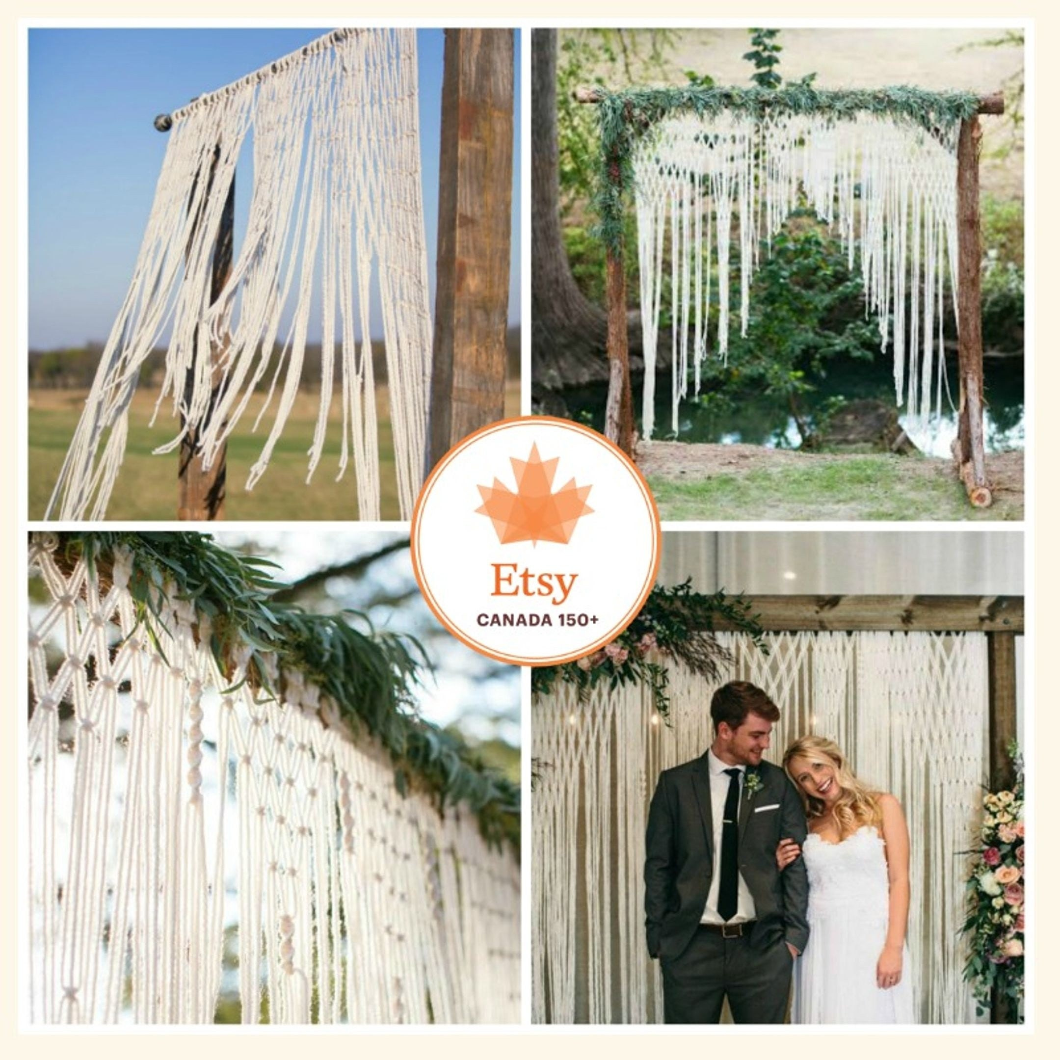 Non Traditional Wedding Arches: Boho Wedding Hanging For Wedding Decor On Arbors And Arches At