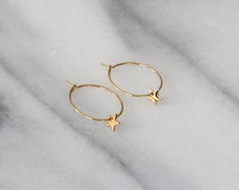Star Hoop Earrings - M3501