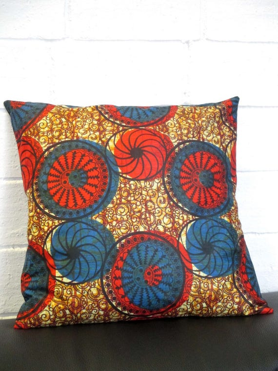 housse de coussin 50x50 en tissu africain ou wax. Black Bedroom Furniture Sets. Home Design Ideas
