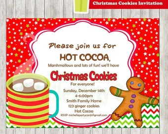 50%Off Christmas Cookies Invitation