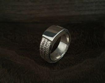 Triple Braid Bali Ring - 925 Sterling Silver - Thick Heavy Men's Silver Ring -- Sterling Ring