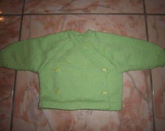 Hand-made strapless top wool-3 months
