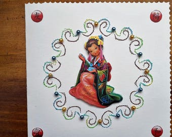 Chinese - made 3D handmade card