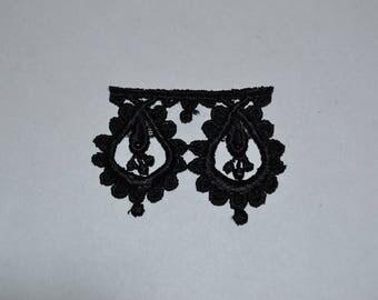 pattern black guipure lace flower