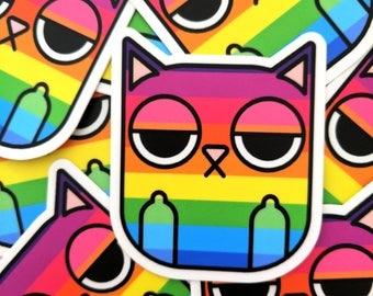 Rainbow Sass Cat Sticker