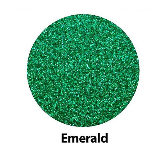 Emerald Green High Glitter Htv Iron On Heat Transfer Vinyl For
