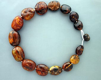Large NATURAL BALTIC AMBER necklace