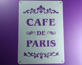 Template Cafe de Paris font Ornament lettering-BO60
