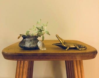 Brass alligator figurine