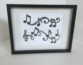 Music Notes Wall Art , Decor , Print , House , Home , Laminated , Instructor , Music Lover , Piano , Guitar , Beat