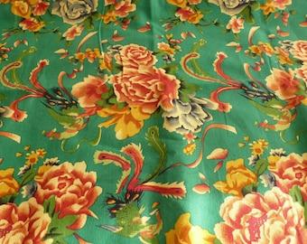 Green Chinese traditional fabrics matte 5 m