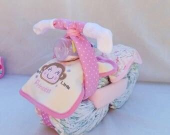 Diaper Bike (Motorcycle) - Pink