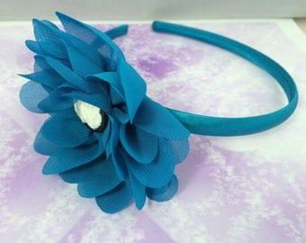 romantic headband turquoise and cameo