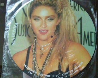 Madonna Picture Disc Interview UK limited edition BAK 2042 Material Girl vinyl record RARE!