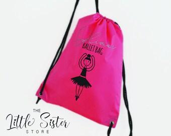 Personalised Girls Glitter Ballet Dance Bag