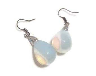 Moonstone Dangle Earrings - Moonstone Earrings - Moonstone Silver Earrings - Moonstone Drop Earrings - Drop Earrings - Silver Earrings