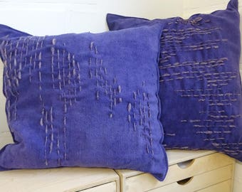 Silk cushion, Vegetable dyed