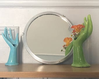 Mirror round vintage - barbers mirror