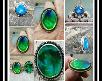 Galaxy Memorial Cremation Ring/ Ash Memorial Ring/Pet Memorial/Cremation Ring/Memorial Ash Jewelry