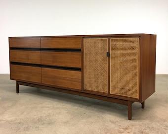 Kipp Stewart | Danish Modern Walnut + Rosewood Dresser | Calvin mid century