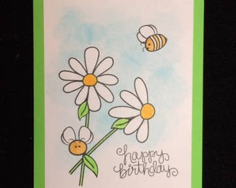Bee Happy Birthday Greeting Card