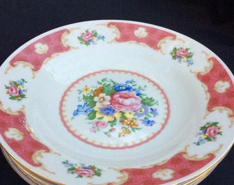 SALE Rose Soup Plates, set of (4)