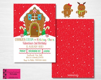 Gingerbread Birthday Invitation
