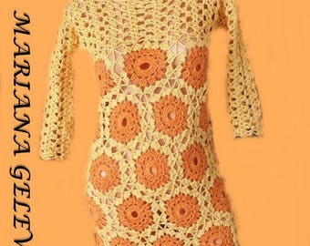 Elegant crochet /on order dress