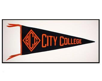 Baltimore City College Circa pennant 1920
