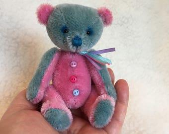 """Ooak Miniature artist bear """"Candy"""""""