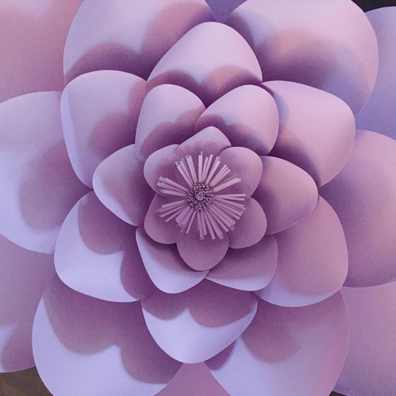 paper flower template digital download pdf printable template