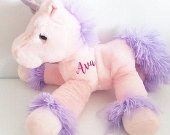 Personalised unicorn, Flower girl gift, christmas, Bridesmaid gift, Personalized bunny, personalised Teddy, soft toy, Christmas gift