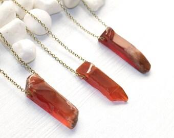 Sacral Chakra Necklace, Carnelian Necklace, Gemstone Necklace, Gemstone Jewelry, Chakra Jewelry, Chakra Healing Necklace, Sacral Jewelry