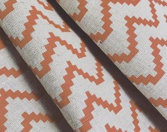 made to measure curtains orange curtains zig zag curtains geometric