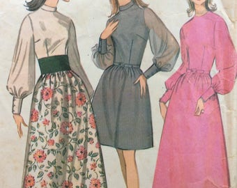 McCall's 9461 misses dress size 12-14 bust 34-36 vintage 1960's sewing pattern