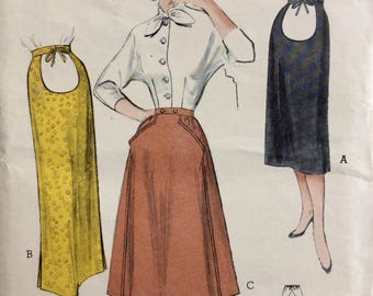 Butterick 5819 misses maternity skirt in two lengths waist 26 vintage 1950's sewing pattern  Uncut  Factory folds