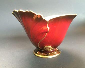 Carlton Ware Vintage Bone China Vase Bowl Dish Rouge Royale England